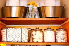 Linen closet makeover | A Bowl Full of Lemons