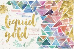 Liquid Gold for Photoshop by Alaina Jensen on @creativemarket