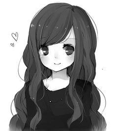 Kawaii and sweet anime girl illustration
