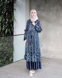 32 Ide Model Gamis Brokat Kombinasi Polos Terbaru Modis Elegan Dan Mewah Model Brokat Muslim