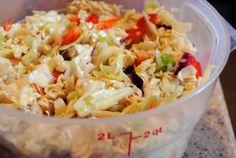 Oriental Cabbage Salad with Ramen