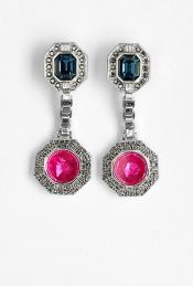 Pavé Octagon Foil Drop Earring by Mawi