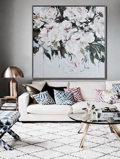 interior inspiration.. that floral painting... Yeeeessss!!!