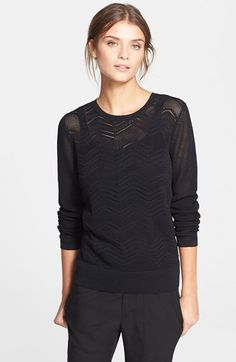 Vince Zigzag Crewneck Sweater available at #Nordstrom
