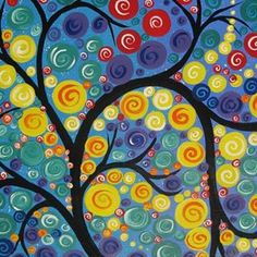 Sold! Other huge paintings by me at SheerJoy.etsy.com #yay , #sa , # tree…