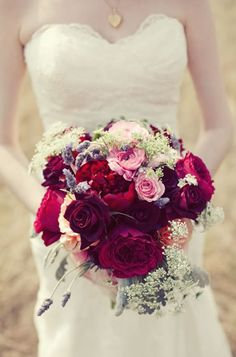 Romantic red rose bouquet {Photo by The Nichols} oh my gosh I think I might be persuaded to do this color combo! Red Wedding, Floral Wedding, Wedding Bouquets, Wedding Day, Summer Wedding, Wedding Designs, Wedding Styles, Red Rose Bouquet, Winter Bouquet