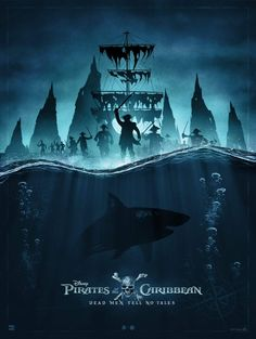 This piece was done by Poster Posse Pro Marko Manev for our official collaboration with Disney for the latest Jack Sparrow tale: Pirates of the Caribbean: Dead Men Tell No Tales Disney Movie Posters, Movie Poster Art, New Poster, Captain Jack Sparrow, Caribbean Art, Pirates Of The Caribbean, Captain Salazar, Black Pearl Ship, Pirate Life