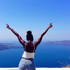 The beauty of travel is that someone's ordinary becomes your extraordinary. Choose extraordinary. #travelnoire #santorini