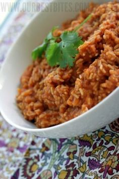Red Chile Rice Recipe lightly adapted by Our Best Bites from The Homesick Texan Cookbook Mexican Dishes, Mexican Food Recipes, Yummy Eats, Yummy Food, My Favorite Food, Favorite Recipes, Best Side Dishes, Pasta, Good Enough To Eat