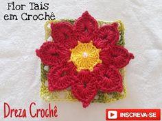 Crochet Flowers, Crochet Hats, Youtube, Crochet Coin Purse, Rugs, Crochet Square Patterns, Love Flowers, Knits, Bedspreads