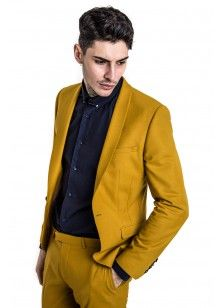 Ellroy Skinny Stretch Jacket Mustard