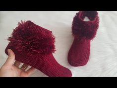 Anne Kız Kombin İki Şiş Pandif Bot Yapımı - YouTube Knitting Stiches, Knitting Socks, Knitting Patterns, Crochet Baby, Knit Crochet, Knitted Slippers, Crochet Shoes, Crochet Videos, Diy Clothes