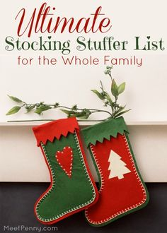 Inexpensive stocking stuffer ideas entire family - Over 500 ideas for children ages 0 through Adults. Great for gift basket ideas too.