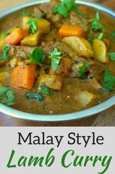 Spicy lamb curry recipe inspired by a Cape Malay chef from South Africa who shared her family recipe. Fresh spices and slow-cooked lamb make this delicious. Lamb Recipes, Curry Recipes, Meat Recipes, Indian Food Recipes, Asian Recipes, Cooking Recipes, Ethnic Recipes, Oven Recipes, Indian Foods