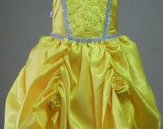 Vestido Infantil Festa Princesa Bela