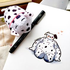 """Dalmatian Baymax."" Posted on tumblr.com by deeeskye."