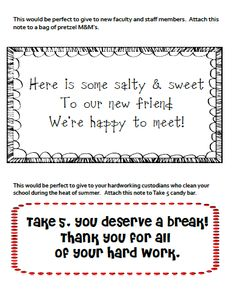 Give some sweet treats to your friends at school.  Free tags you can print to add to the treat.