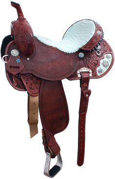 too bad i'm not a leather saddle fan >. Barrel Racing Saddles, Barrel Saddle, Barrel Horse, Horse Saddles, Western Horse Tack, Horse Barns, Horse Gear, Westerns, Horse Love