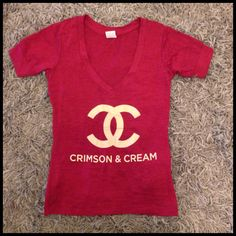 Crimson and cream burnout tee $32 s-xl www.royceclothing.com