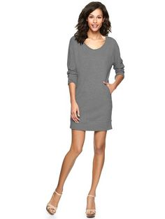 Gap | Terry sweatshirt dress| the teacher in me NEEDS this piece.