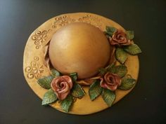 Ο Polymers, Ceramic Pottery, Decoupage, Polymer Clay, Centerpieces, Decorative Plates, Ceramics, Dolls, Hats