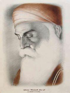 A beautiful face of Guru Nanak