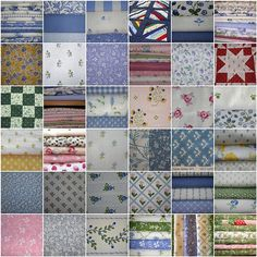 Vintage Laura Ashley fabrics.