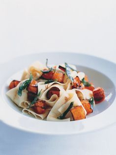Pasta with pumpkin and sage brown butter: Pretty easy and quick. Tasty, but v rich.
