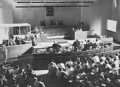 Film evidence is shown during the trial of Adolf Eichmann.