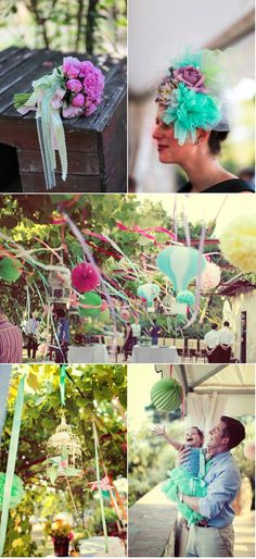 2nd picture down - streamers, flowers, everything