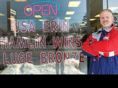 Very proud of Erin Hamlin of USA Luge winning the Bronze Medal at the 2014 Sochi Winter Olympics.