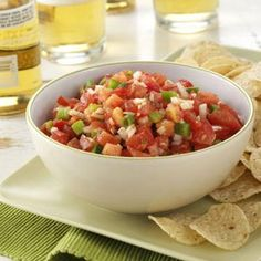 Garden Salsa Recipe from Taste of Home -- shared by Michelle Beran of Caflin, Kansas