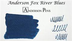 Anderson Fox River Blues Fountain Pen Ink (2oz)
