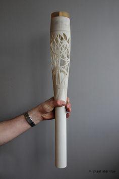 The Queen's Baton prototype, 3D printed using SLS