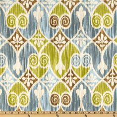 Ikat in my favorite colors. Potential upholstery option.