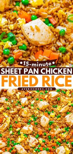 42 reviews · 15 minutes · Gluten free · Serves 5 · A healthy dinner idea in 15 minutes! Full of authentic flavor, no one would ever guess this Sheet Pan Chicken Fried Rice is actually baked. Make this quick and easy chicken recipe on busy weeknights!