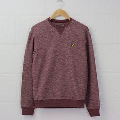 Lyle and Scott Marl Sweatshirt (Claret Jug) #lyleandscott #sweatshirt #menswear