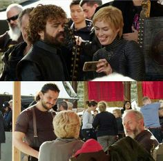 Behind the scenes, season 7 Game Of Thrones Cast, Game Of Thrones Funny, Valar Dohaeris, Valar Morghulis, Ramsey Bolton, Game Of Throne Actors, Got Memes, Hbo Series, Season 7