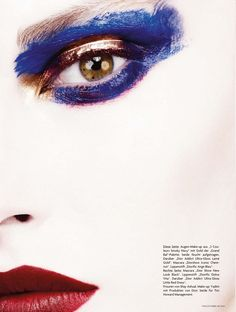 Catherine McNeil by Ben Hassett for Vogue Germany | Fashion photography | make-up