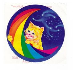 RARE Vintage 1984 Lisa Frank Crescent Moon by CollectorsWarehouse