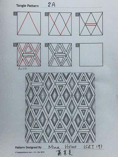 Interesting new tangle from Mina Haiso, CZT