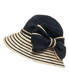 Loving this Boardwalk Style Black Bow Bucket Hat on #zulily! #zulilyfinds