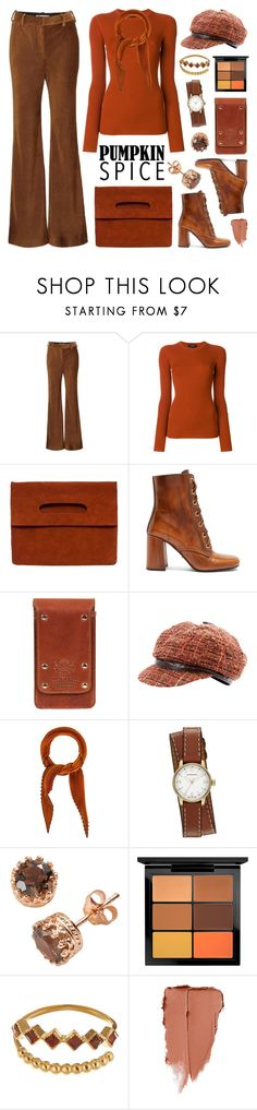 """Pumpkin Spice"" by deepwinter ❤ liked on Polyvore featuring Acne Studios, Theory, Prada, Dolce&Gabbana, Hermès, Burberry, Sterling, MAC Cosmetics and pumpkinspice"