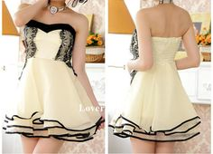 Daffodil Prom Dress Lace Cocktail Dress Layered Prom by LoverDress, $122.00
