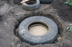 She Gives Old Tires New Life By Burying Them In Her Garden. I Want One!