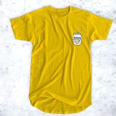 awesome Banana Milk Pocket Logo T-Shirt for Men and Women