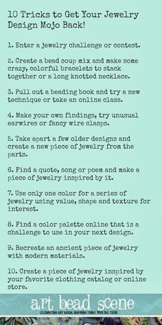 Art Bead Scene Blog: 10 Awesome Tips to Get Your Beading Mojo Back!