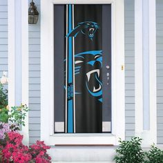 Carolina Panthers Two-Sided Door Wrap, Multicolor