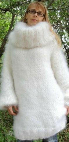 Gros Pull Mohair, Red T, Thick Sweaters, Mohair Sweater, Hand Knitting, Fur Coat, Turtle Neck, Pullover, Jackets