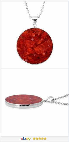 Sponge Coral Pendant Stainless Steel Chain USA Seller  #ebay http://stores.ebay.com/JEWELRY-AND-GIFTS-BY-ALICE-AND-ANN